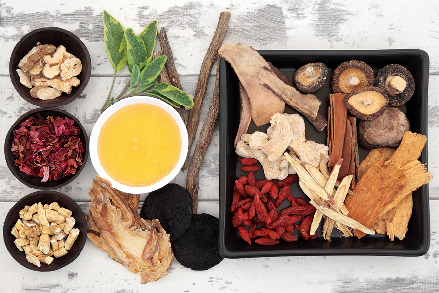 Traditional chinese herbal medicine ingredient selection with ho